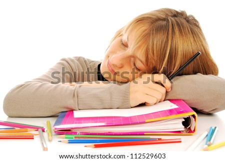 First day of school - 100 - A young student on the first day of school - stock photo