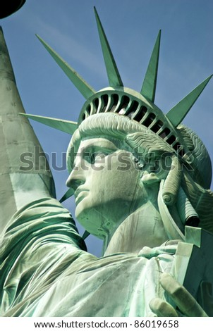 first floor of the statue of liberty - stock photo