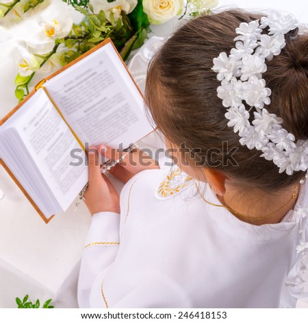 First Holy Communion - stock photo