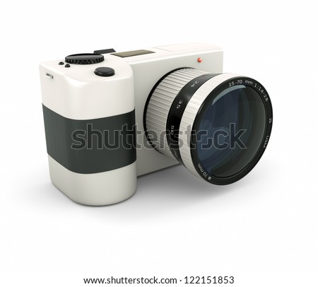 first mirrorless full frame - stock photo