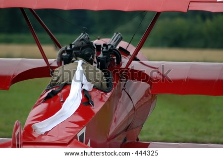 first world war fighter, Red Baron - stock photo