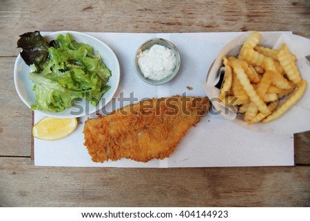 Fish and chips  - stock photo