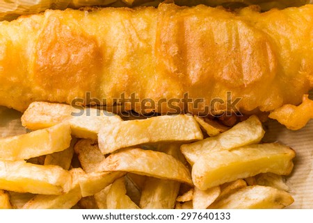 Fish and chips of the home U.K. - stock photo