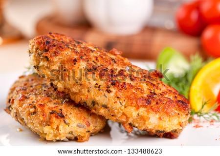 Fish cakes - stock photo