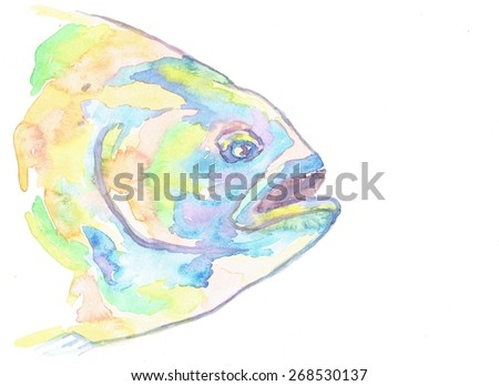 Fish illustration - stock photo