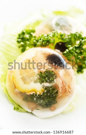 fish in aspic - stock photo