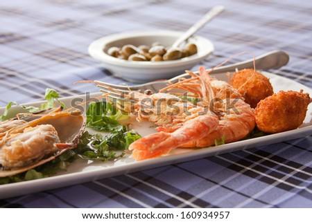 Fish meze - stock photo