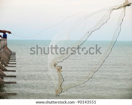 fish net - stock photo