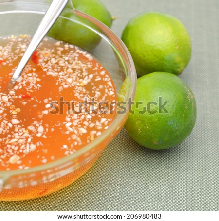 fish sause in Vietnamese food  - stock photo