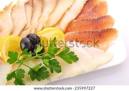 Fish Slices - stock photo