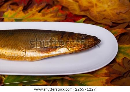 Fish smoked - stock photo