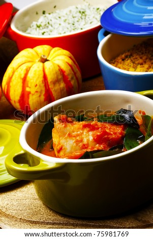 fish stew - stock photo