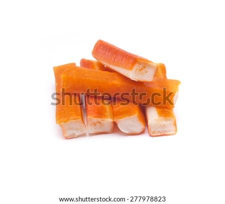 fish sticks, commonly called crab sticks - stock photo