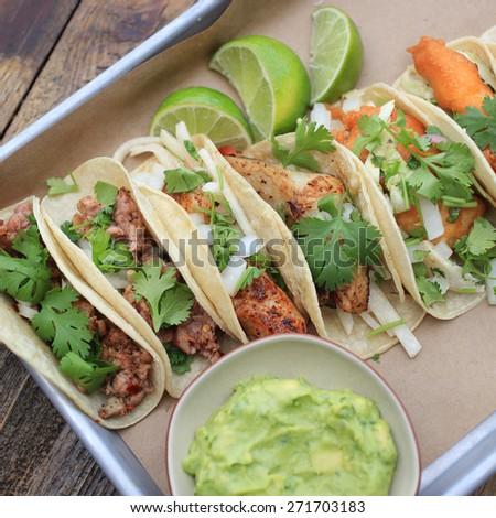 Fish Tacos - stock photo