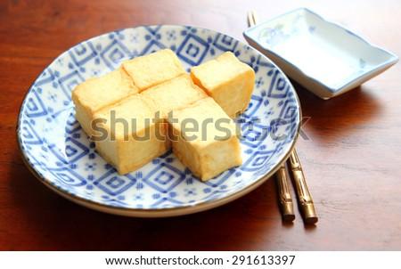 fish tofu. tofu. - stock photo