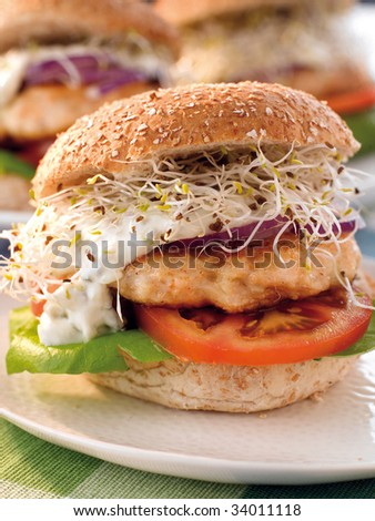 Fishburger - stock photo