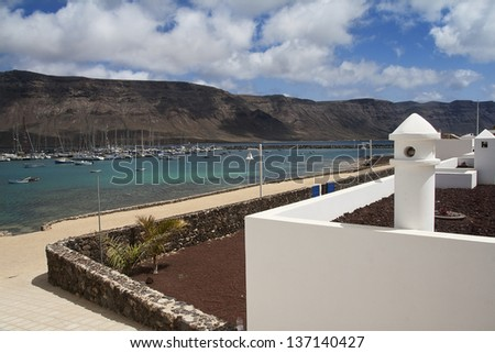 Fisher harbor Lanzarote - stock photo