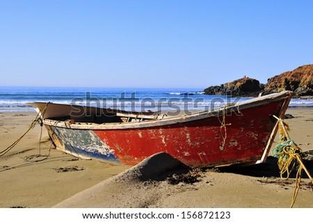 Fisherman's Boat, Baja California - stock photo