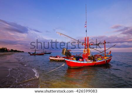 Fishing boat. - stock photo