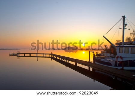 Fishing boat is ready to leave for a day of fishing - stock photo