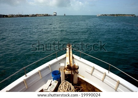 Fishing charter boat in Key West, Florida - stock photo