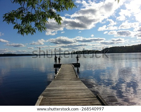 Fishing dock stock photos images pictures shutterstock for Ely minnesota fishing