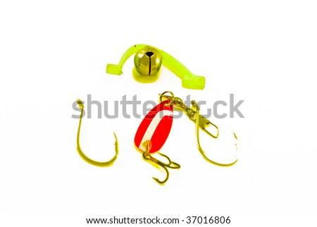 fishing hook and spangle - stock photo