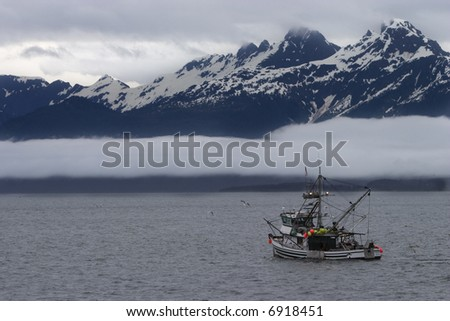 Fishing in Alaska - stock photo