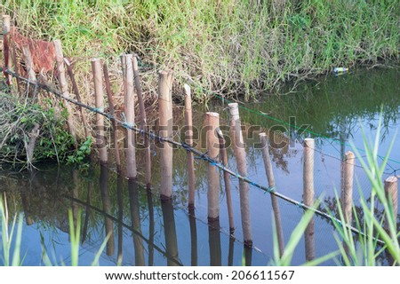 fishing nets. - stock photo
