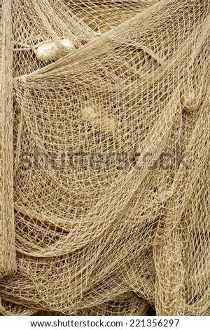 fishing nets 2 - stock photo