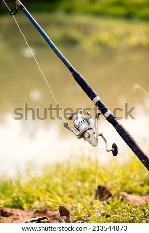 Fishing reel - stock photo