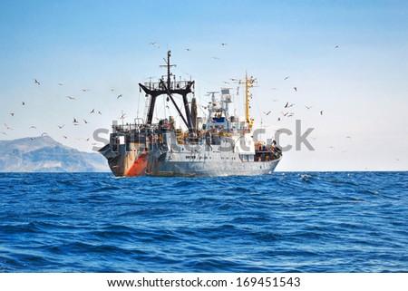 Fishing seiner - stock photo