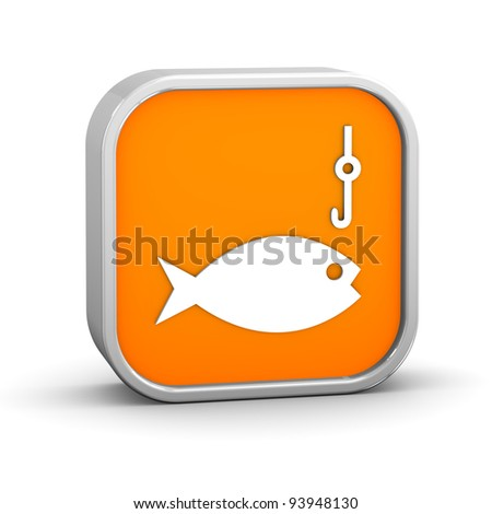 Fishing sign on a white background. Part of a series. - stock photo