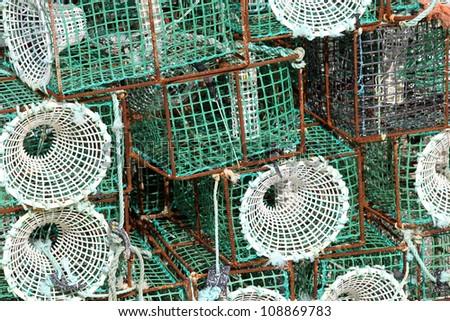 Fishing traps - stock photo