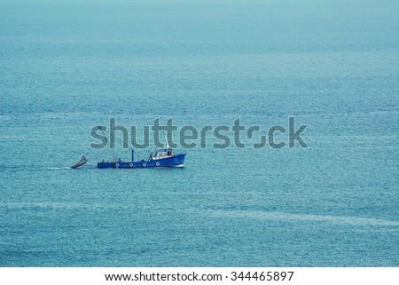 Fishing Vessel in the Black Sea - stock photo