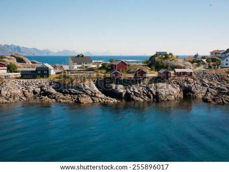 Fishing village - stock photo