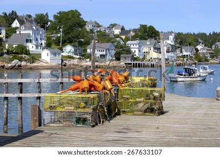 Fishing village of Stonington, Maine, USA - stock photo