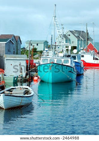 Fishing village,Peggy's Cove,Nova Scotia,Canada - stock photo