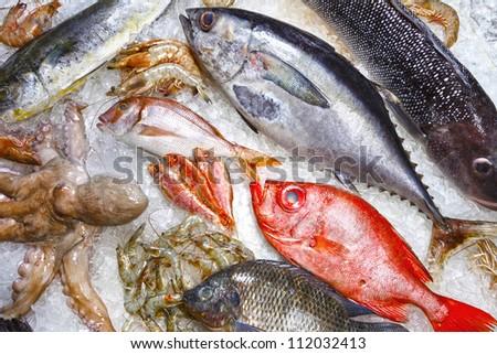 fishmonger - stock photo
