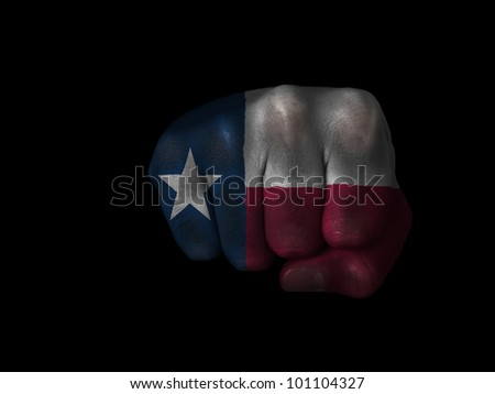 Fist of Texas painted - stock photo