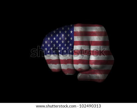 Fist of the United States - stock photo