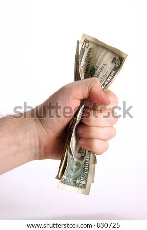 fistful of dollars - stock photo