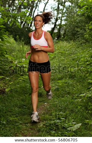 Fit woman working out - stock photo