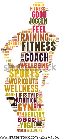 fitness and sports coach - stock photo