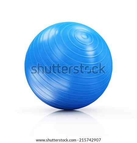 Fitness Ball isolated on white background - stock photo