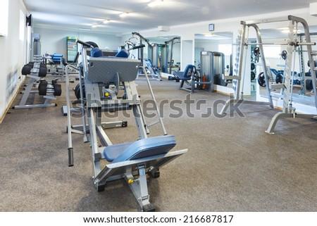 Fitness club interior. - stock photo