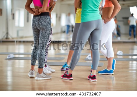 Fitness group-legs concept - stock photo