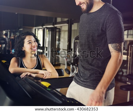 Fitness Gym Hobby Healthy Assistance Active Concept - stock photo
