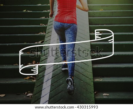 Fitness Healthy Lifestyle Frame Graphic Concept - stock photo