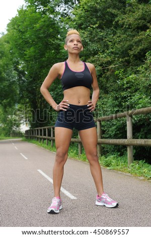 Fitness healthy woman - stock photo